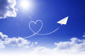 晴天と紙飛行機