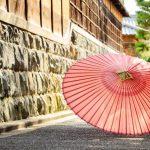 日本家屋と和傘